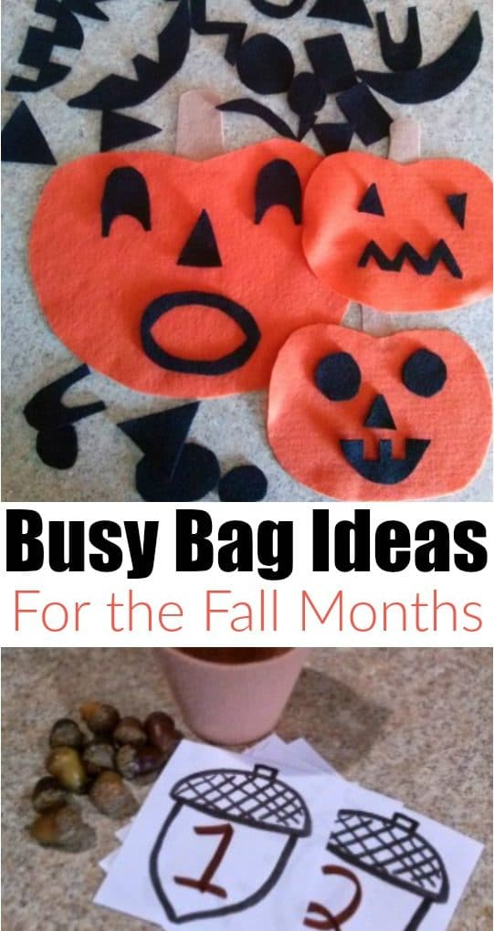 3 Fun, Fall Busy Bags
