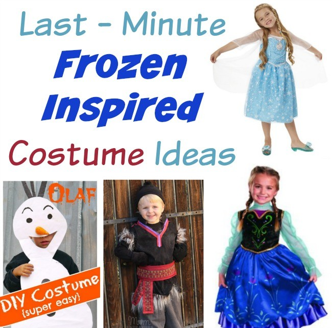 Last Minute Elsa and Frozen Inspired Costumes!