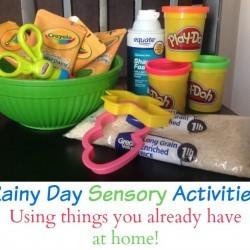 rainy day sensory activities