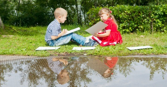 learning in nature with kids