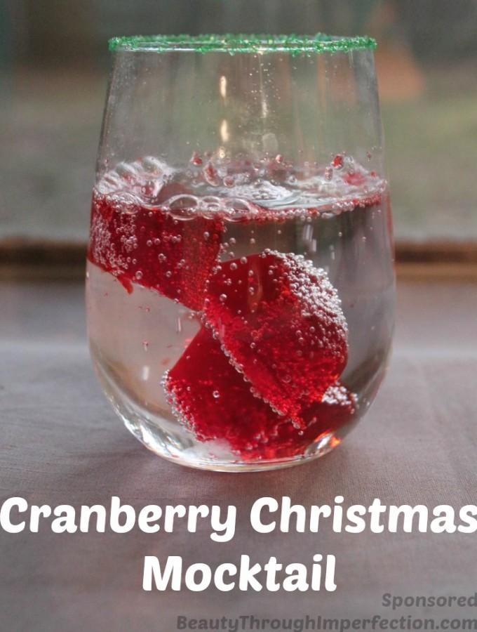 Cranberry Christmas Mocktail Recipe