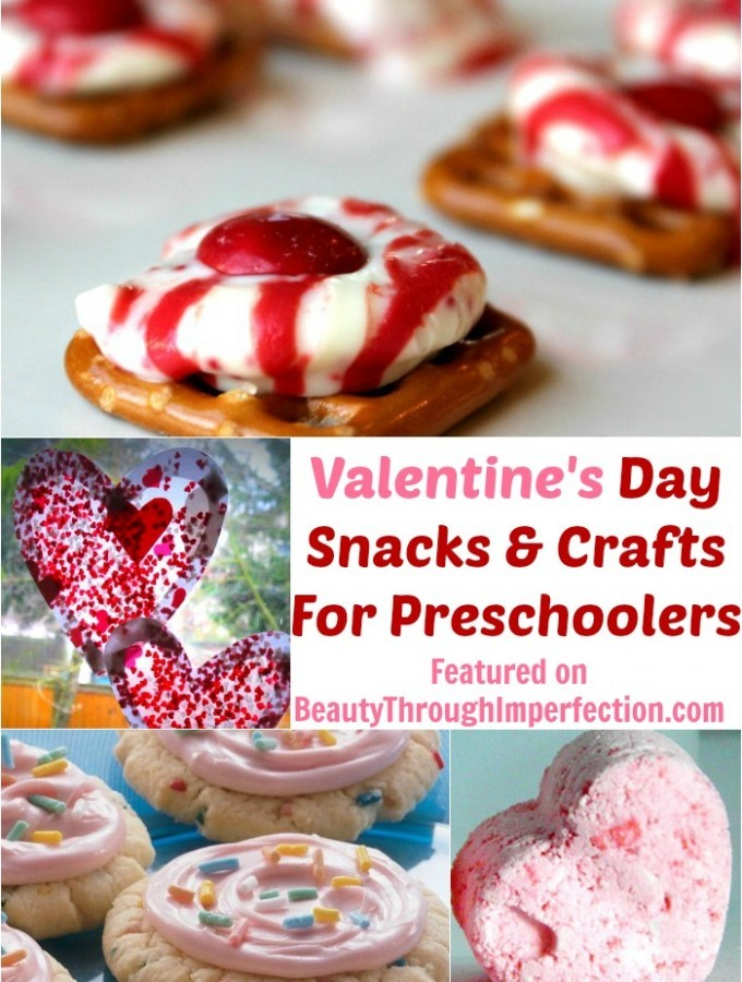 Valentines Day Crafts and Snacks For Preschoolers