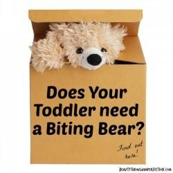 biting bear for kids