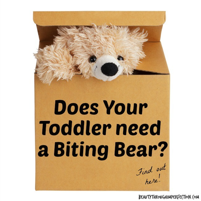 Stop Toddler Biting For Good  {Biting bear}