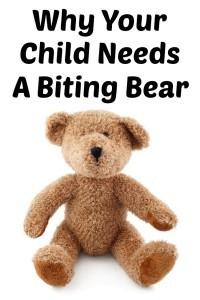 child needs biting bear
