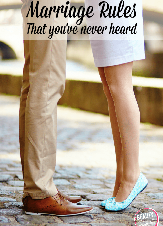 Marriage Rules {You've probably never heard}