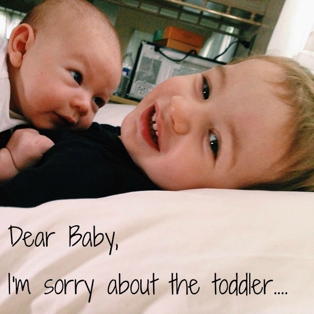 Dear Second Baby, I'm sorry about The Toddler