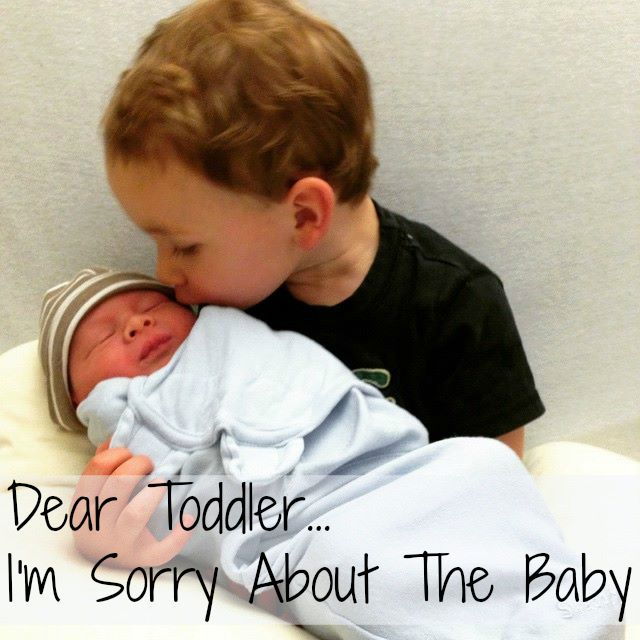Dear Toddler, I'm sorry about The New Baby