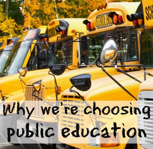 Public schooling isn't our default choice, it's an intentional one