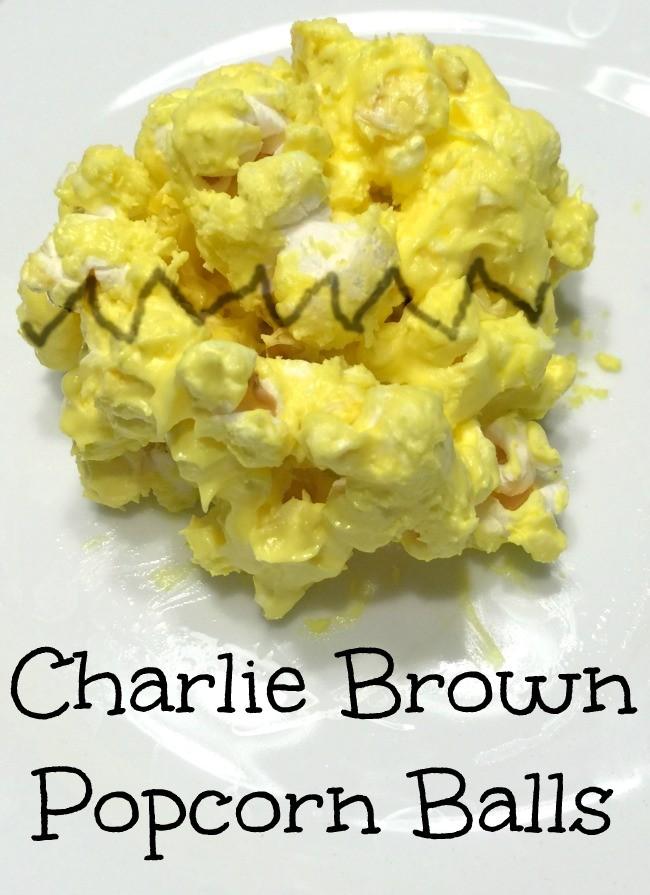 Peanuts Inspired Popcorn Balls