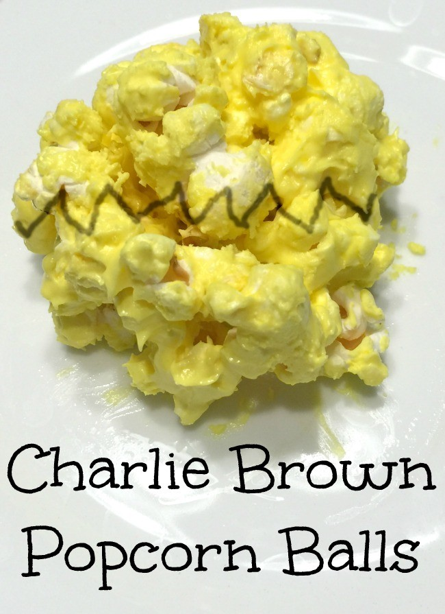 charlie brown popcorn balls