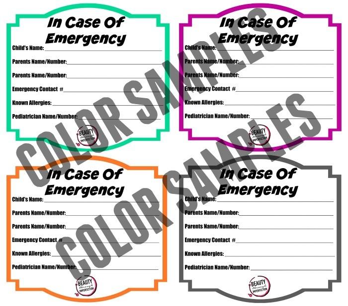 IN CASE OF EMERGENCY PRINTABLES