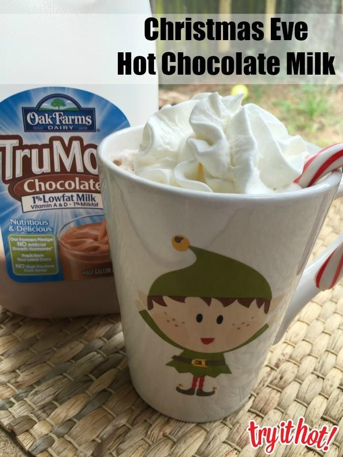 christmas eve hot chocolate milk