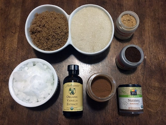 Gingerbread Sugar Scrub Ingredients