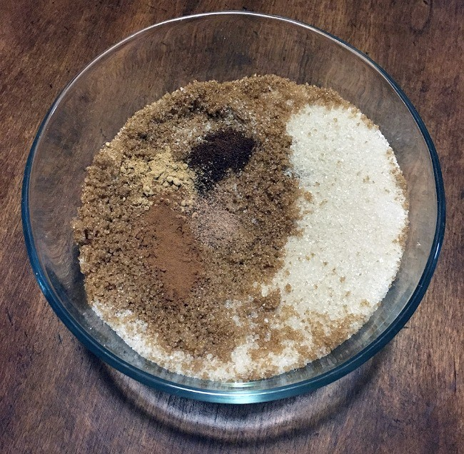 Gingerbread Sugar Scrub mixing