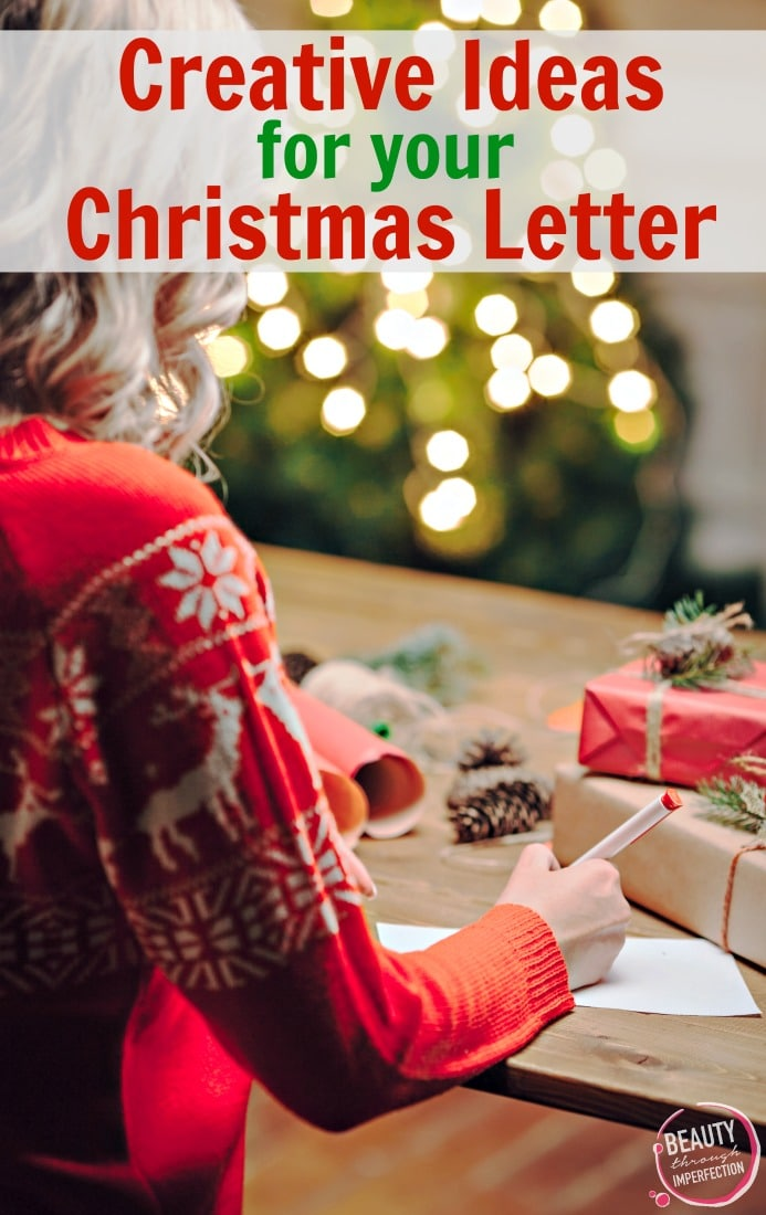 Creative ideas to help you write an amazing Christmas letter