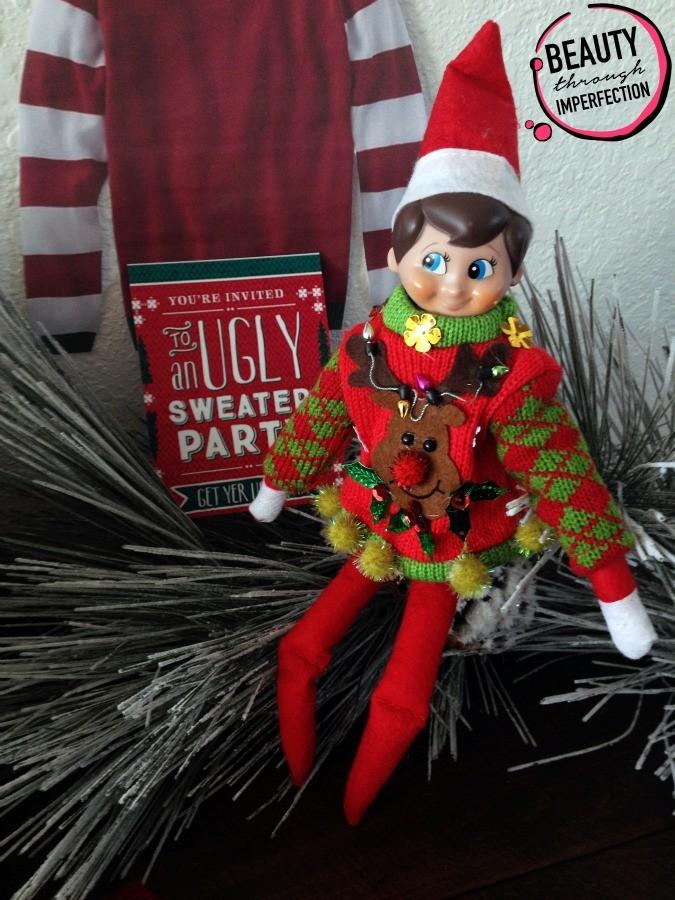 elf on the shelf christmas sweater