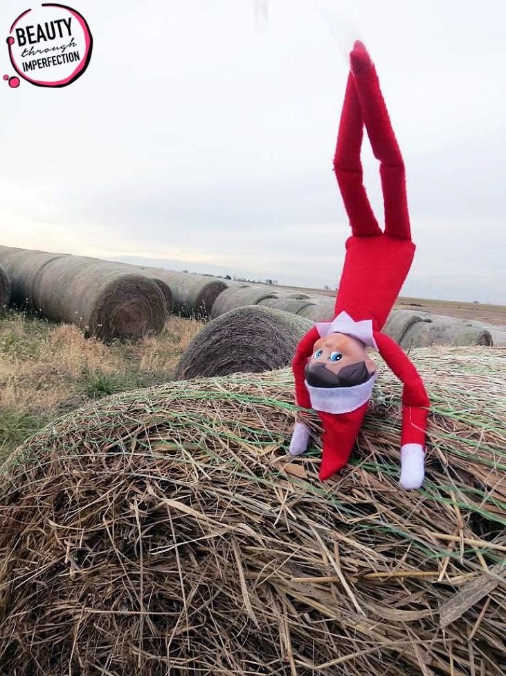 elf on the shelf handstand