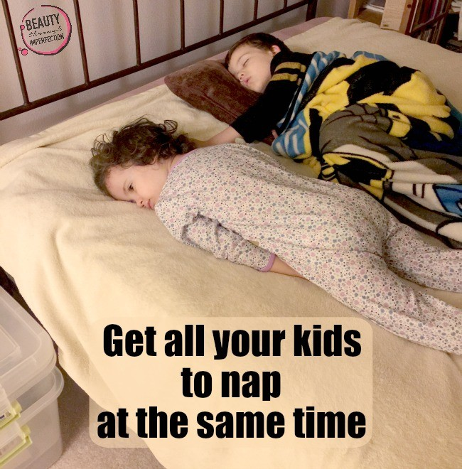 get all your kids to nap at the same time