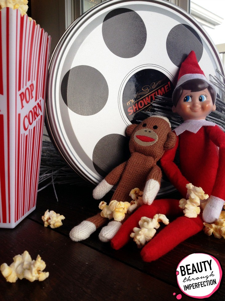 movie night elf on the shelf