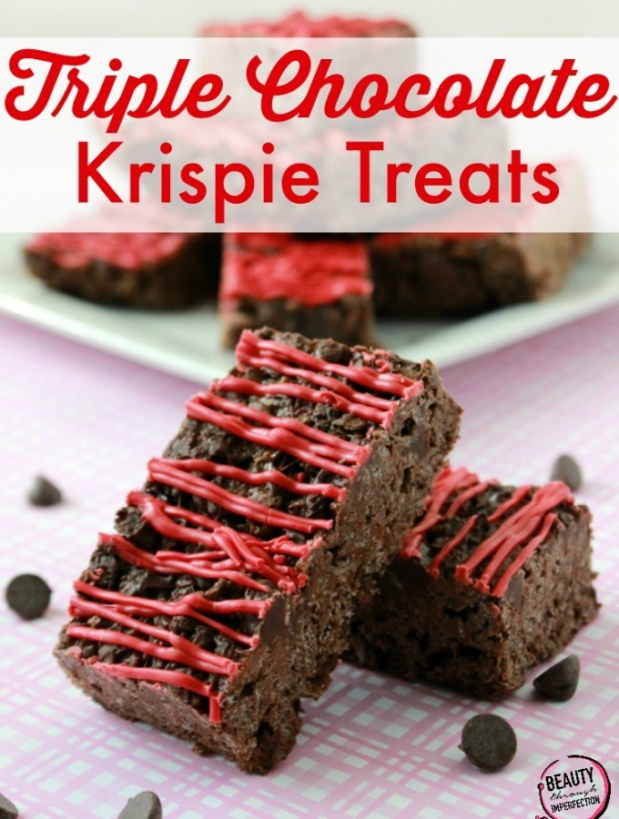 Triple Chocolate Krispie Treats