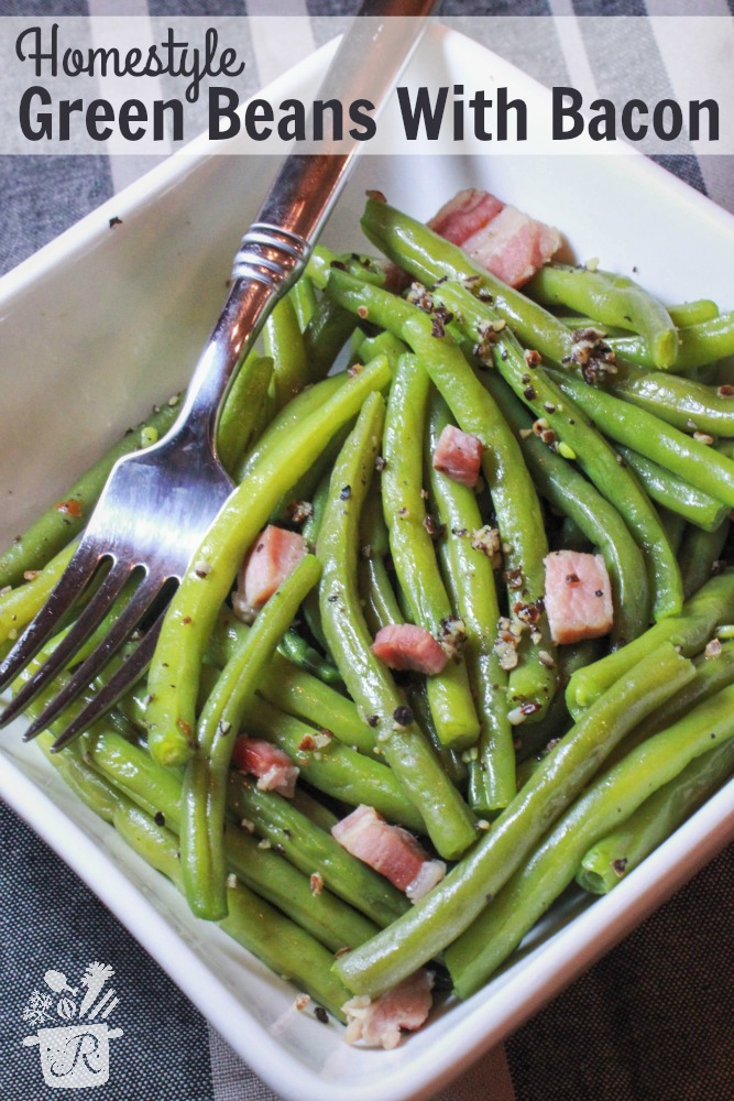 homestyle green beans with bacon