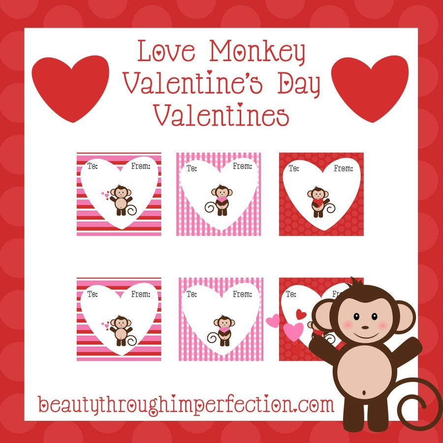 love monkey valentines