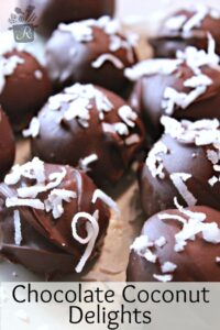 chocolate coconut delights