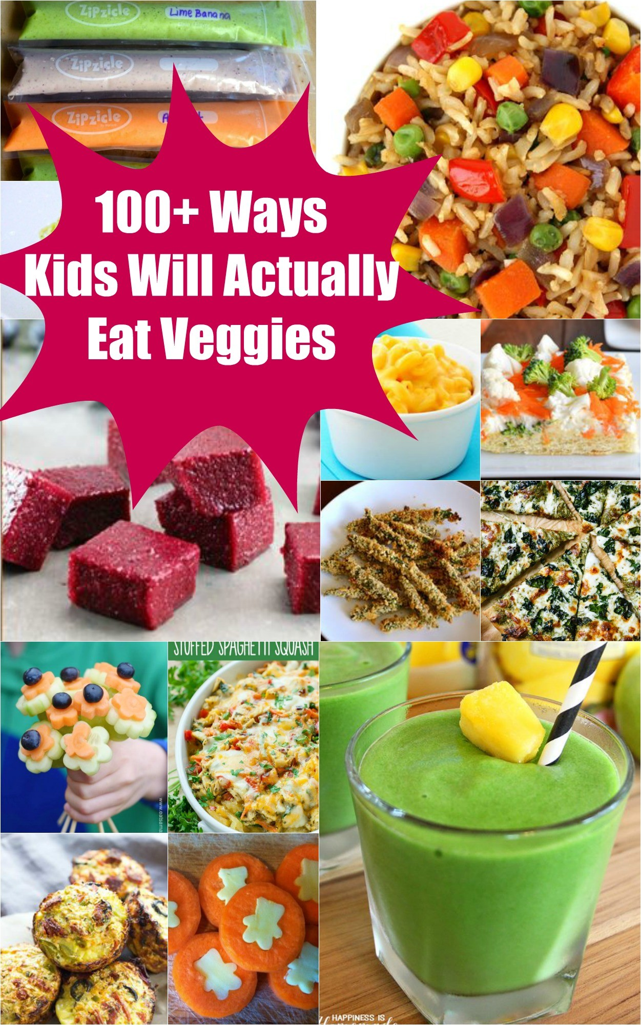100 ways to get kids eating vegetables