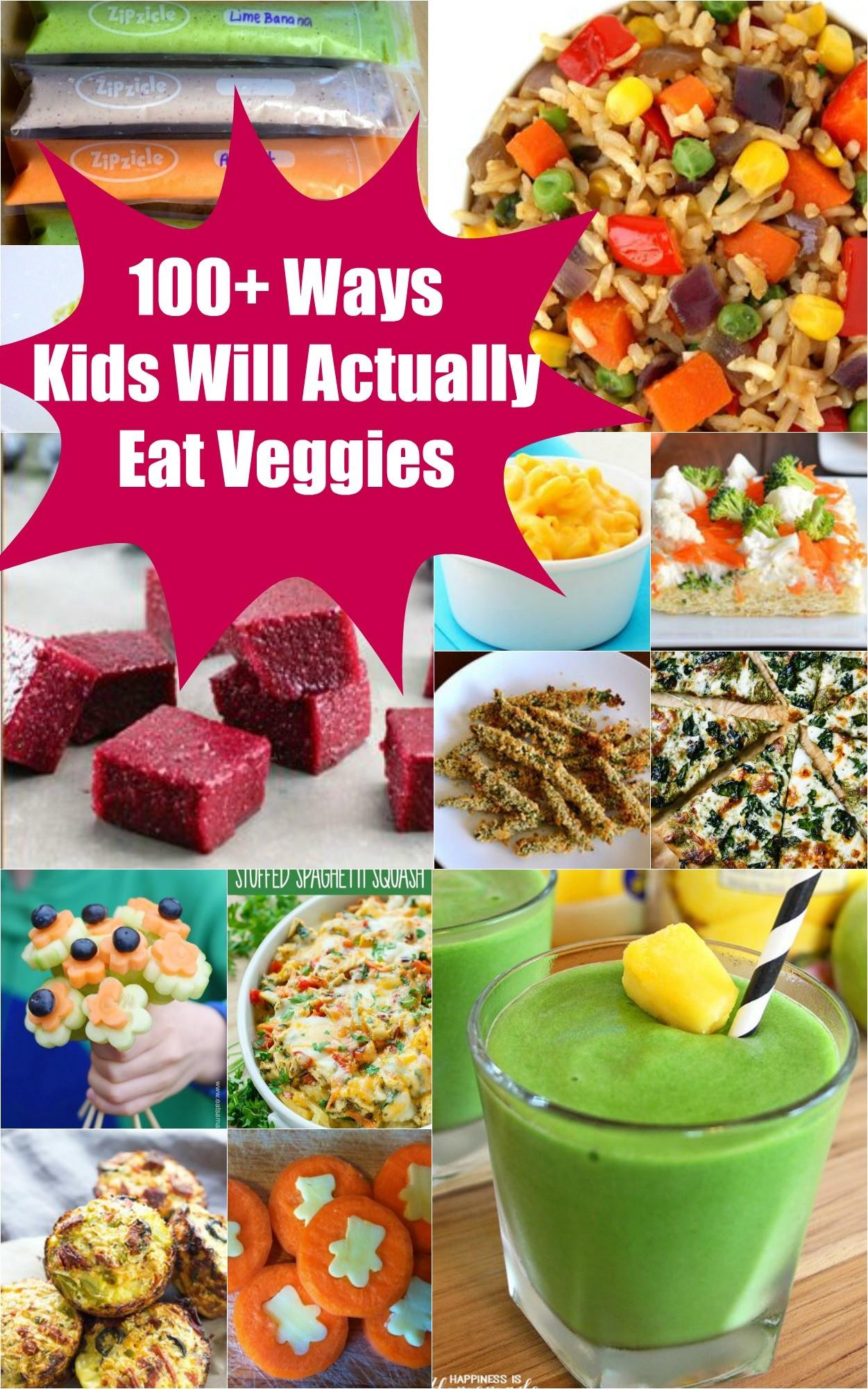 100 ways to get kids eating vegetables