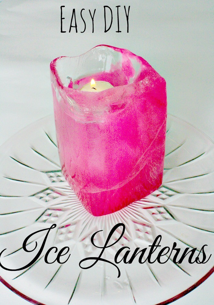 Eco-Friendly Fun Colored DIY Ice Lantern from Recyclables - Pin image