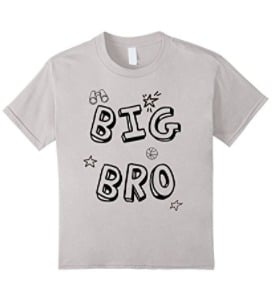 new big brother - perfect for pregnancy announcement or adoption announcement. coloring shirt for big brother.