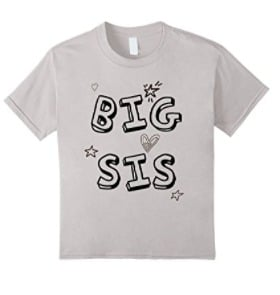 big sis coloring shirt - perfect for helping announce your pregnancy! Gift idea for the new big sister