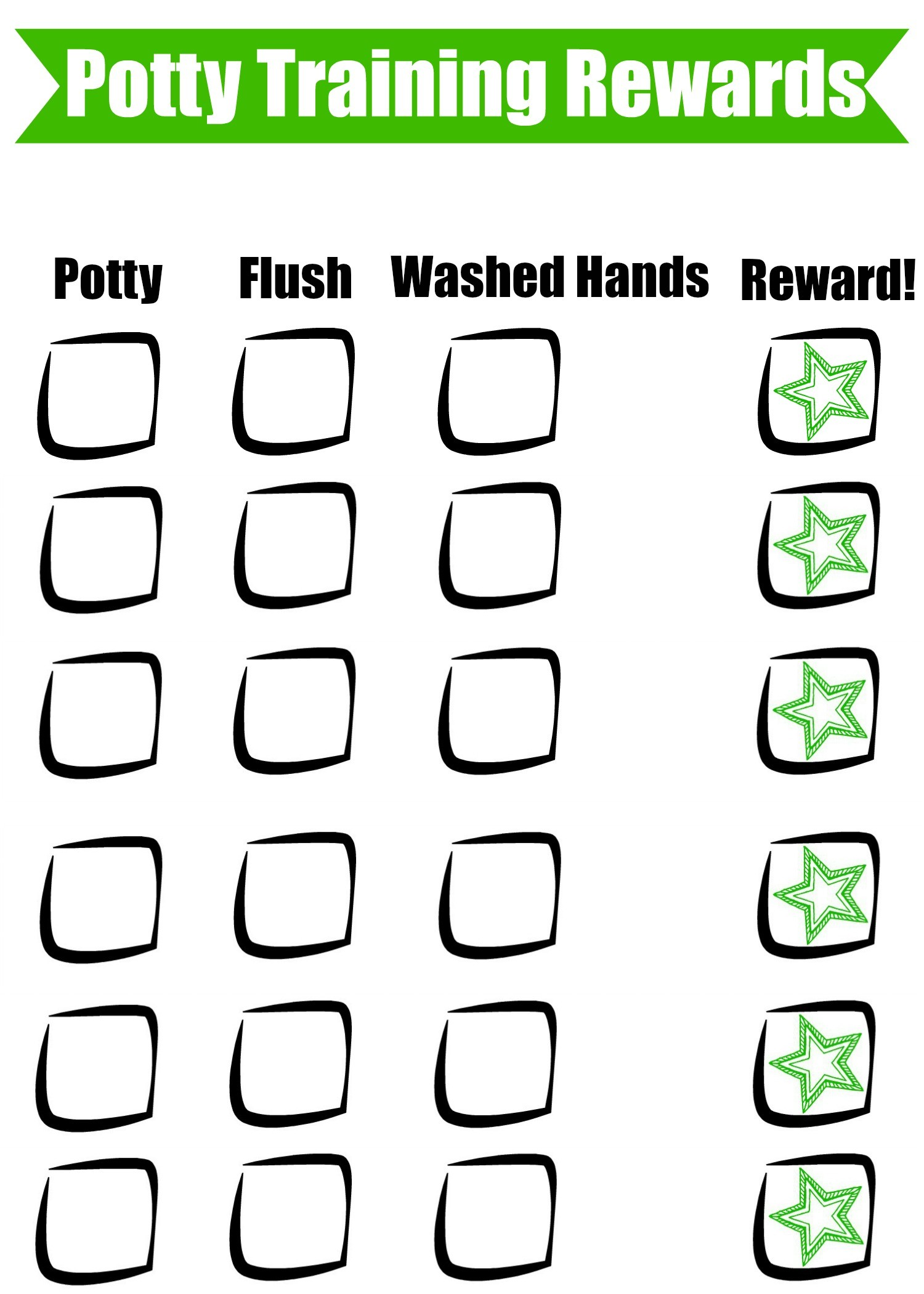 reward chart for potty training