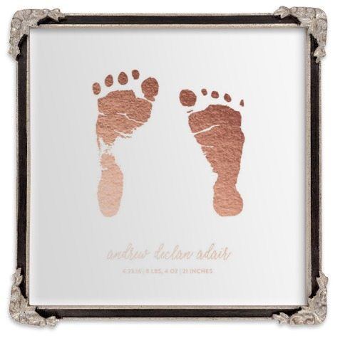 footprint art mother's day gift