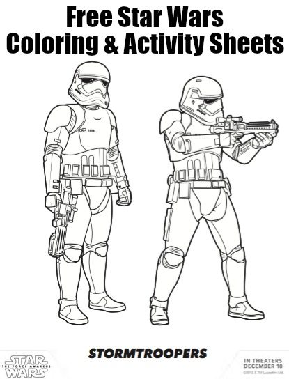 Free coloring pages of one troopers