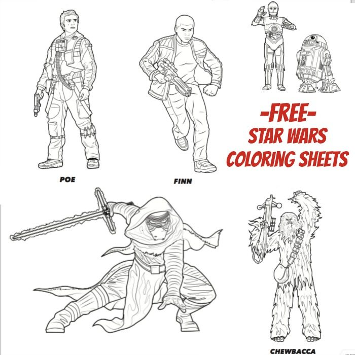 free star wars coloring sheets the force awakens - One Coloring Page