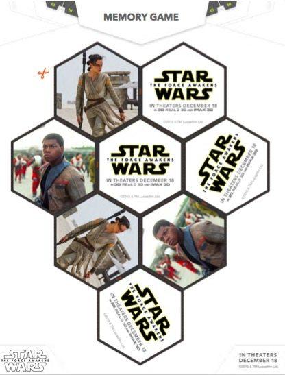 free star wars matching game