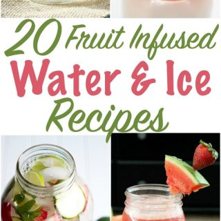 fruit infused water and ice recipes