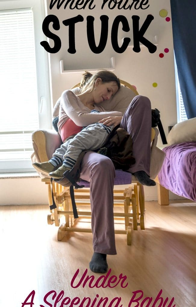 Everything You Can't Do When Stuck Under A Sleeping Baby