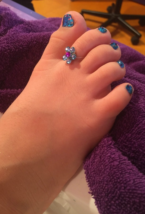 after little girl pedicure