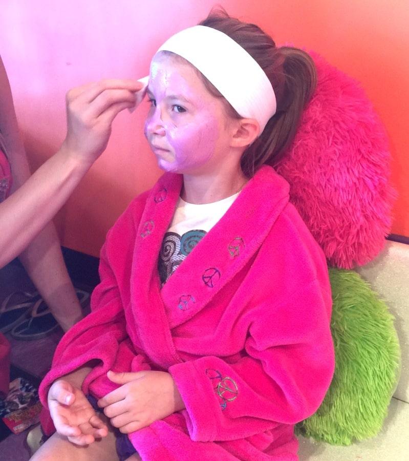 little girl facial day