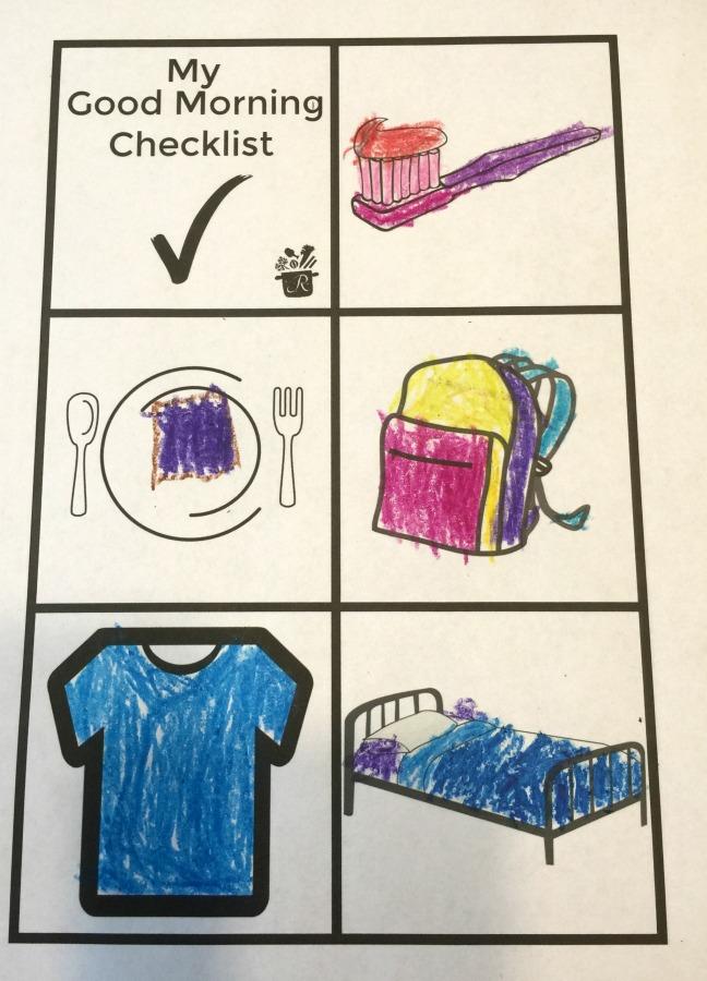 morning checklist free printable