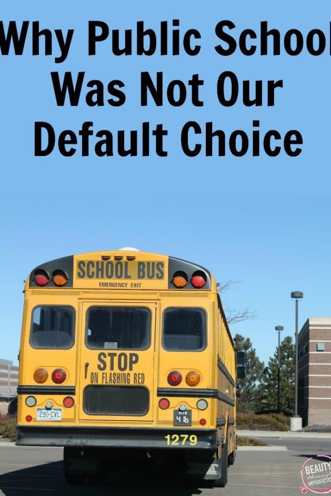 Why We're Choosing Public School