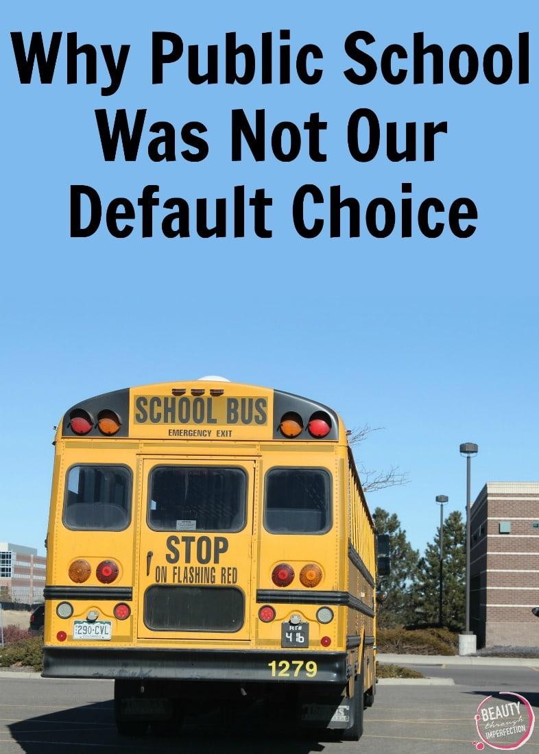 public school was not a default choice