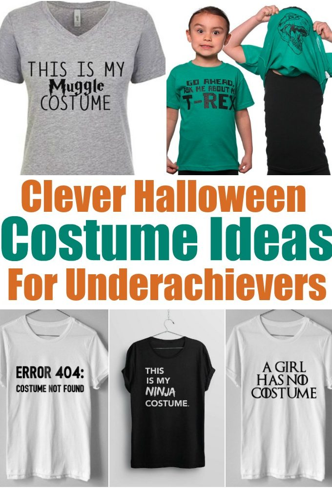 Costume ideas for underachievers