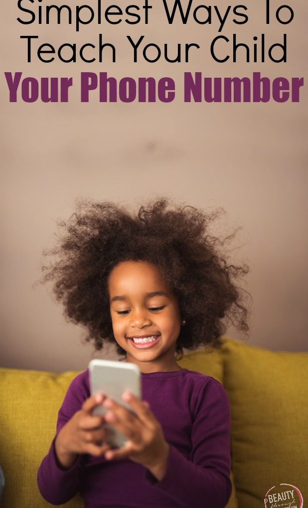 How to teach your child your phone number