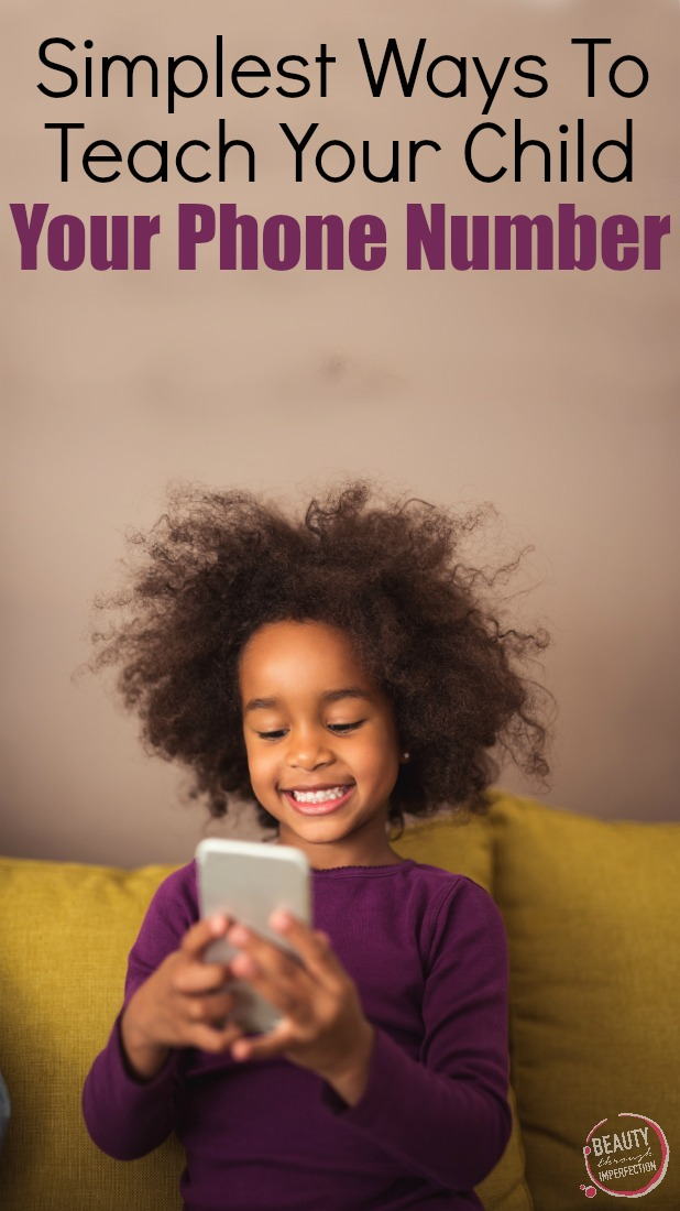 simplest way to teach your child your phone number