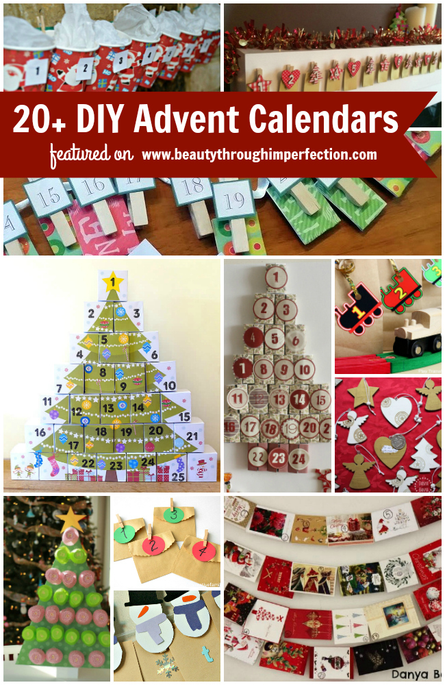 20+ DIY Advent Calendar Ideas