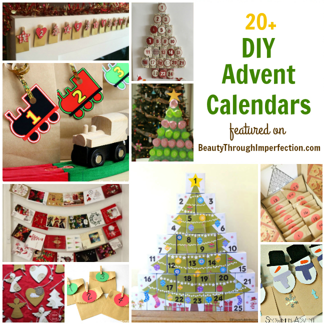 Diy Makeup Advent Calendar : Diy advent calendar ideas beauty through imperfection